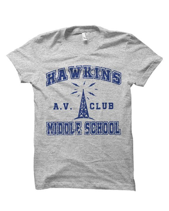 Stranger Things Hawkins Middle School AV Club Tv Series T-Shirt | Gift | Bday…