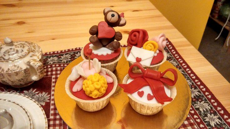 Cupcakes di san Valentino.