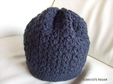 *かぎ針編み*カンタン帽子。