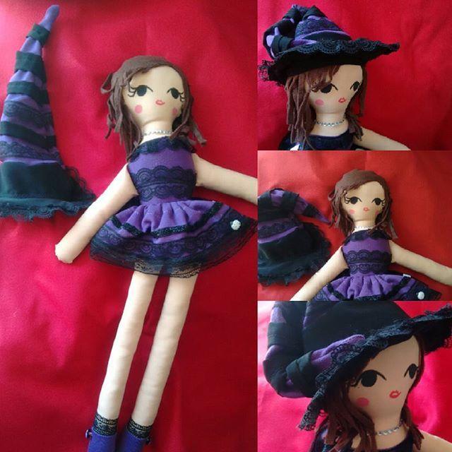 Bella brujita a pedido, todo hecho a mano, pintada, 80cm, linda verdad?  #muñeca #muñecasdetela #niñas #juguetes #suave #cazziadolls #decoracion #brujita #