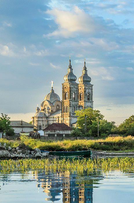 Old orthodox church in Danube Delta, Chilia Veche, Romania.