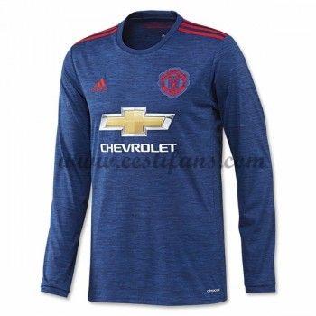 Manchester United Fotbalové Dresy 2016-17 Venkovní Dres Dlouhým Rukávem