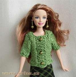 Zelený svetr