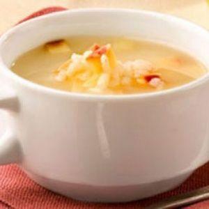 Суп фруктовый на отваре шиповника с сухарями
