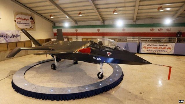 Qaher F313: Iran unveils home-made 'stealth' fighter which officials say can evade radar.