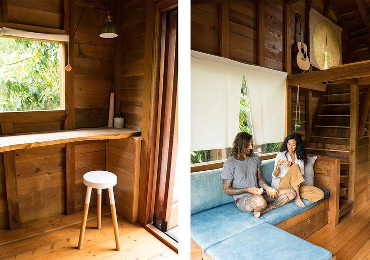 Cette petite résidence au cœur de la forêt Hawaïenne est une oasis de paix! Appartenant à un couple de surfeurs, elle a été construite en seulement cinq semaines et est faite de bois de séquoia recyclé. Entièrement à aire ouverte, les propriétaires peuvent admirer les étoiles grâce à la fenêtre placée au-dessus du lit à …