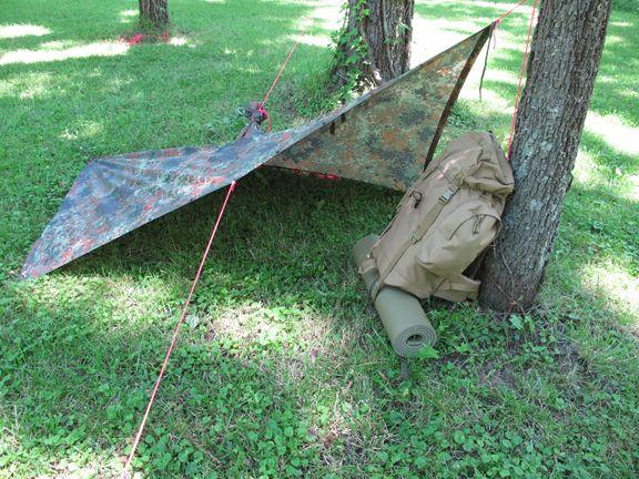 Various ways to set up a ponco tent