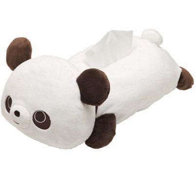 Chocopa panda bear plush tissue box