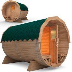 Sauna Barril De Madera Al Aire Libre. 3 metros, incluye horno - GANGAS DE ESPAÑA