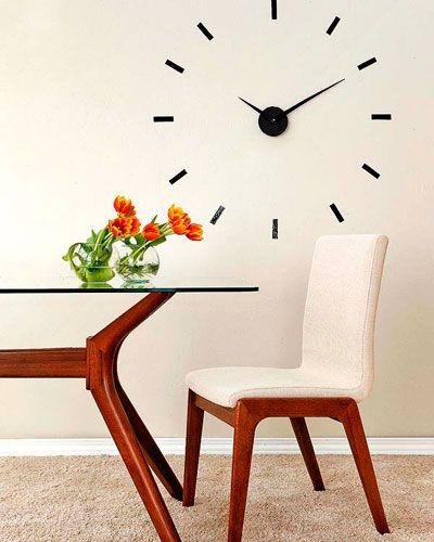 Las 25 mejores ideas sobre relojes de pared en pinterest - Reloj pintado en la pared ...