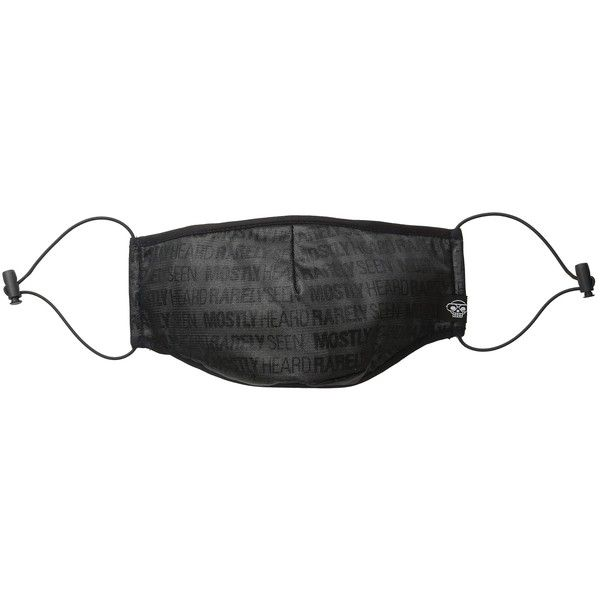 Mostly Heard Rarely Seen Woven Surgical Mask (Black Mesh) Caps (6.915 HUF) ❤ liked on Polyvore featuring men's fashion, men's clothing and black
