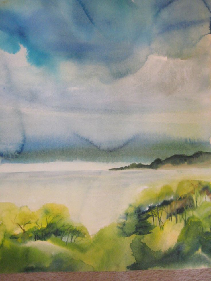 Landscape Watercolor on Arches Paper  23 X 29 inches by Karen Pratt by Artskp on Etsy https://www.etsy.com/listing/176223300/landscape-watercolor-on-arches-paper-23