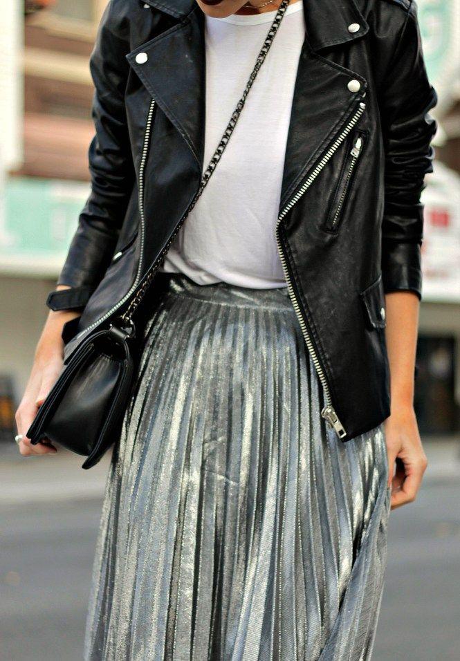 marvelous laser cut leather skirt
