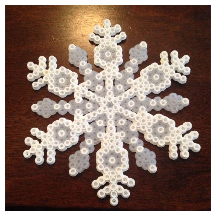 Snowflake made of Perler Beads
