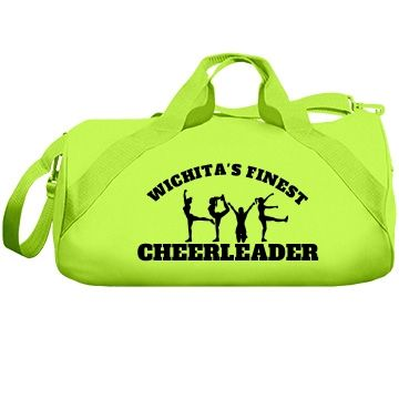 Wichita cheerleader | A wonderful and professionally made cheer bag for the serious cheerleader. Pick from various colours and you can customize it to be your very own.