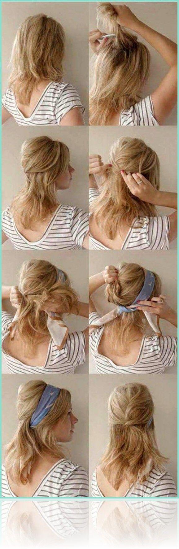 lange Haarmodelle – bandana binden anleitung frisu…