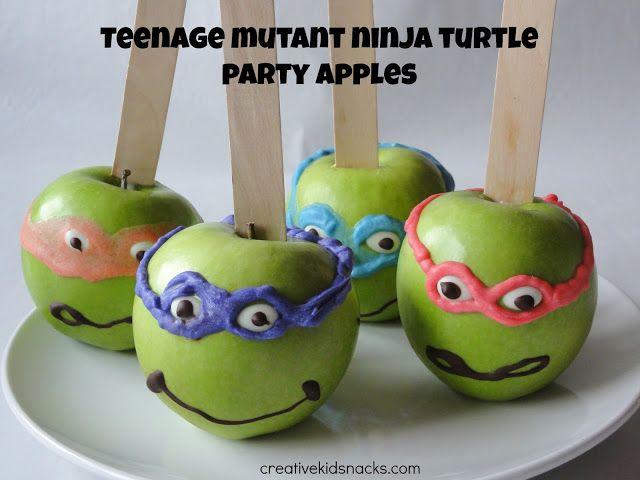 Ninja Turtle candy apple treats