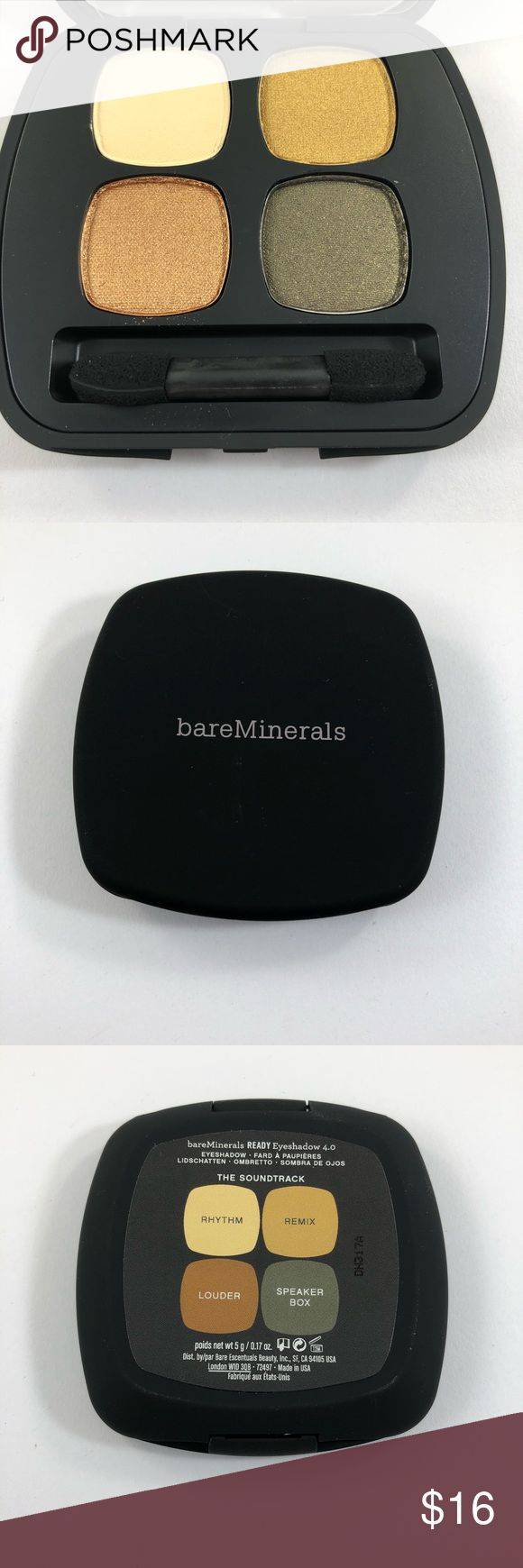 BareMinerals The Soundtrack Eyeshadow Palette New. A few marks in one shade from plastic protector. Every item on my page is authentic and was personally purchased. Smoke free home. I ship everything within 1 business day of cleared payment. No holds. No trades. If you have any questions please reach out! bareMinerals Makeup Eyeshadow