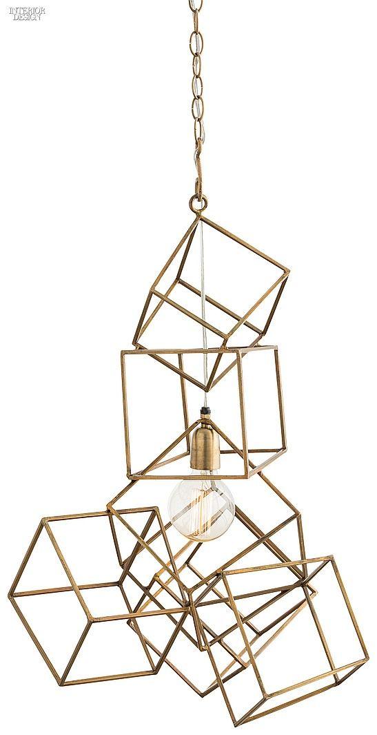 Editors' Picks: 90 Statement Light Fixtures   Noel pendant in antiqued brass by Arteriors.