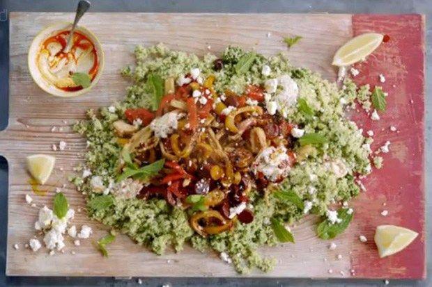 jamie oliver grecky salat z kuskusu v bru ku pinterest couscous simple and jamie oliver. Black Bedroom Furniture Sets. Home Design Ideas