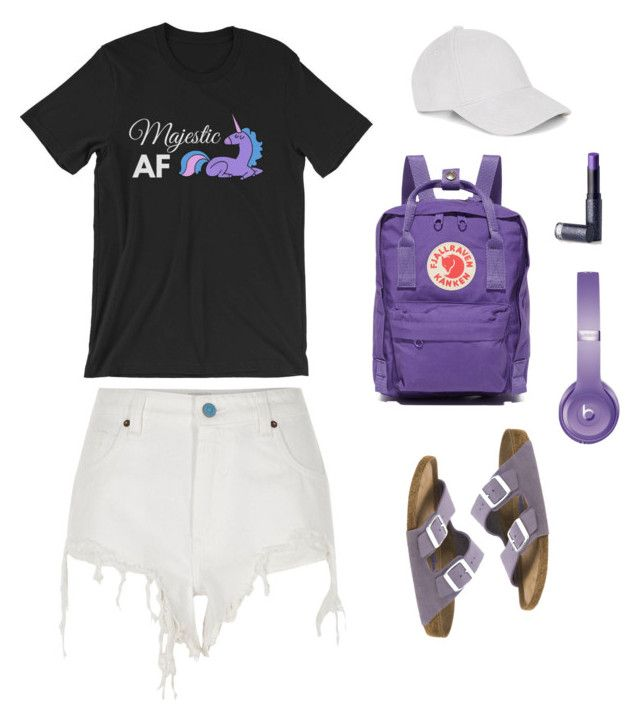 """""""Majestic AF (Unicorn) Shirt   Unisex, Womens, Mens, Graphic Tee, Tshirt"""" by samantha-siman on Polyvore featuring River Island, Birkenstock, Lipstick Queen, Fjällräven, Le Amonie and Beats by Dr. Dre"""