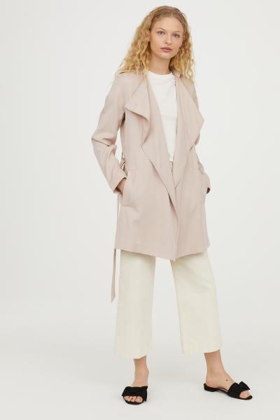 57dc1fa1a3 Short Lyocell Trenchcoat | Stylin | Fashion, H&m, Light beige