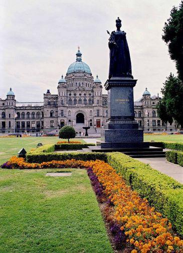 parliament buildings in Victoria, British Columbia, Canada.