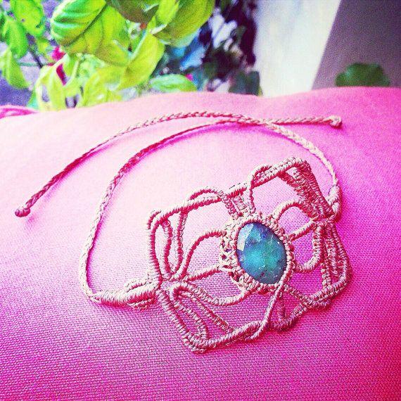 Adam's Apple : Handcrafted Macramé Bracelet by Jo Macramé.