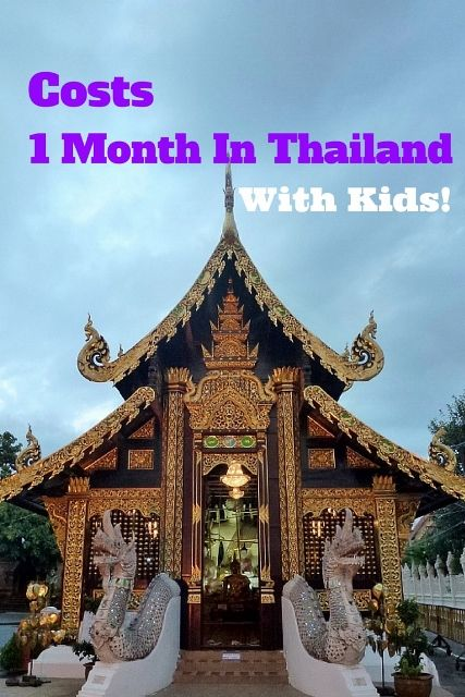 Cost For One Month In Thailand with Kids! Read more on WagonersAbroad.com