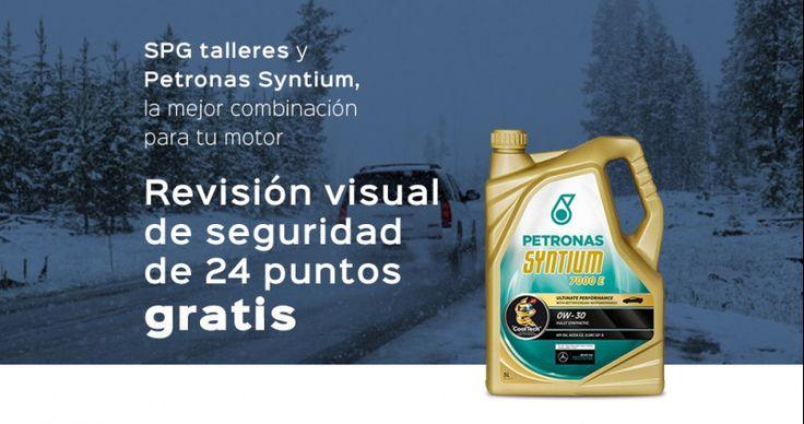 #Revisión visual #gratis y cambio se aceite Petronas a precio especial http://www.spgtalleres.com/es/promociones/promocion-talleres-de-coches-revision-gratis/_id:3/