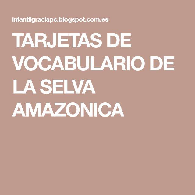 TARJETAS DE VOCABULARIO DE LA SELVA AMAZONICA