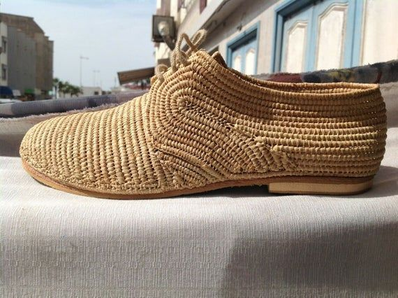 Photo of Oxfords raffia shoes women Moroccan raffia shoes handmade oxfords boho chic shoes lace up rafia flats – Products