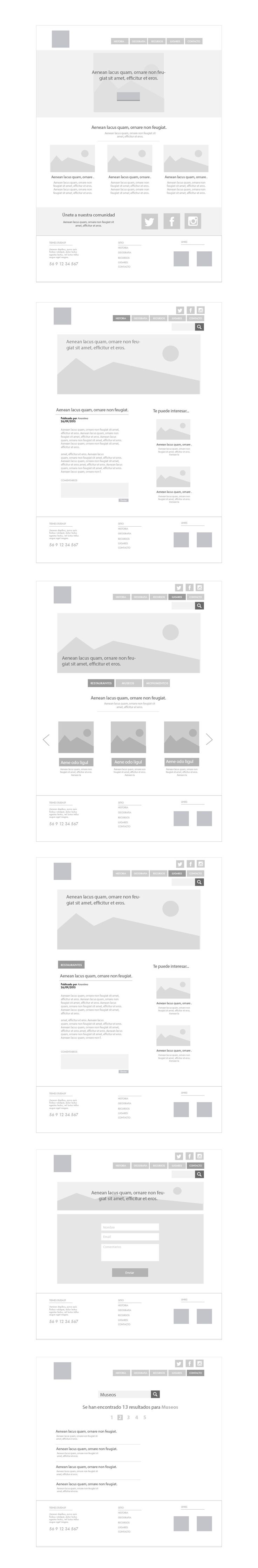 Wireframe Website - Illustrator