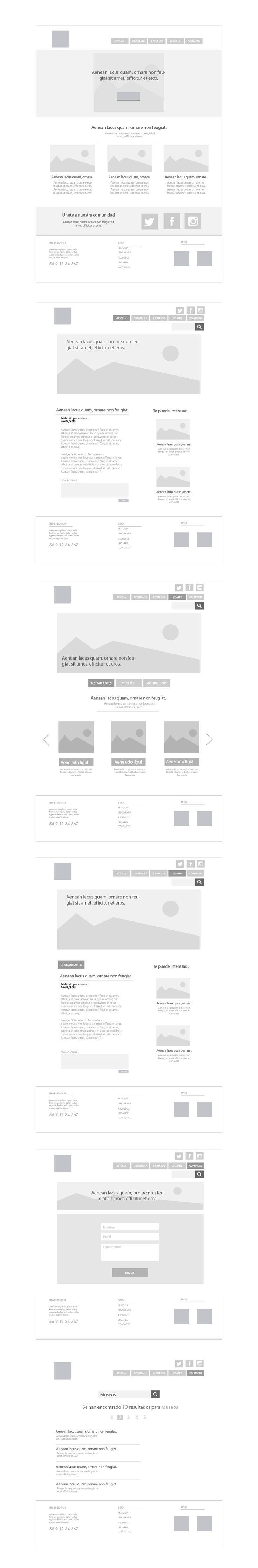 Wireframe Website - Illustrator