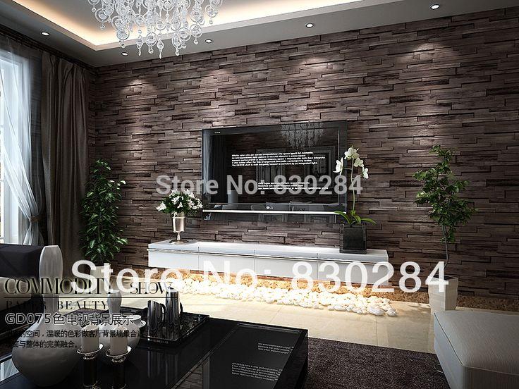 3d mattoni carta da parati d'epoca per soggiorno camera da letto pvc sfondi muri di mattoni di pietra 3d sfondi sfondo wallcoverrings(China (Mainland))