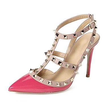 Studded Leather Pointed Stiletto Heels With Slim Strap Sandals Women's Shoes - USD $ 14.93