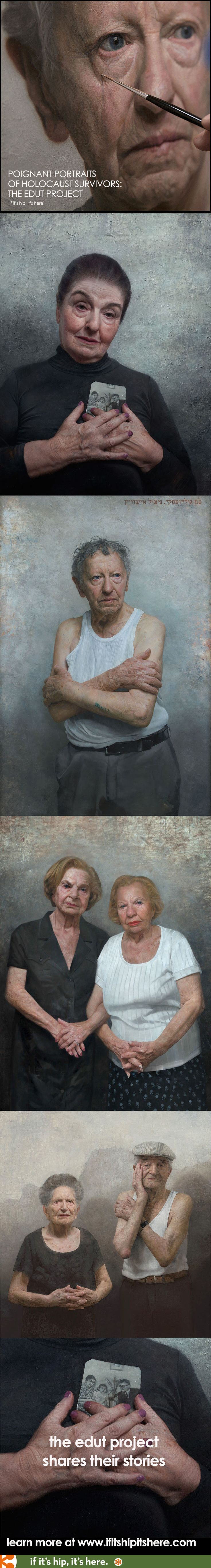 David Kassan's beautifully painted portraits of Holocaust Survivors at http://www.ifitshipitshere.com/portraits-of-holocaust-survivors/
