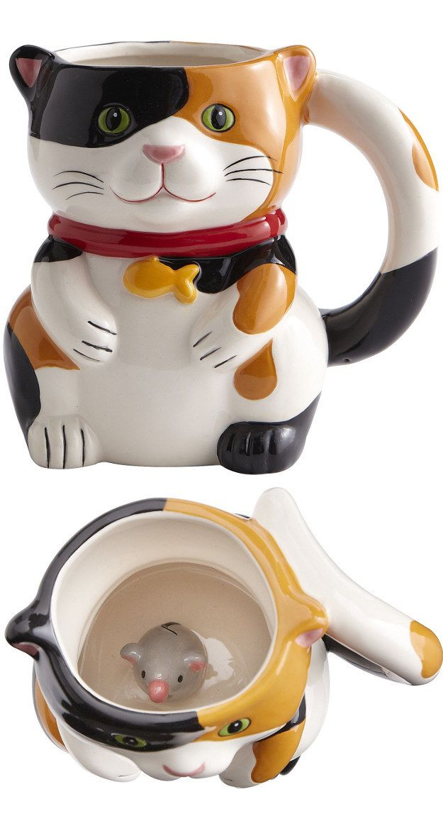 This one that has a special treat inside: | Community Post: 19 Perfect Mugs For All The Cat Lovers In Your Life