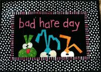 Bad Hare Day Wallhanging Pattern by Bloomin' Minds at KayeWood.com. http://www.kayewood.com/item/Bad_Hare_Day_Wallhanging_Pattern/3988 $3.50