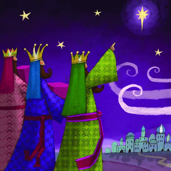 xmas card kings | Christmas Cards - Three Wise Kings (10 pack)