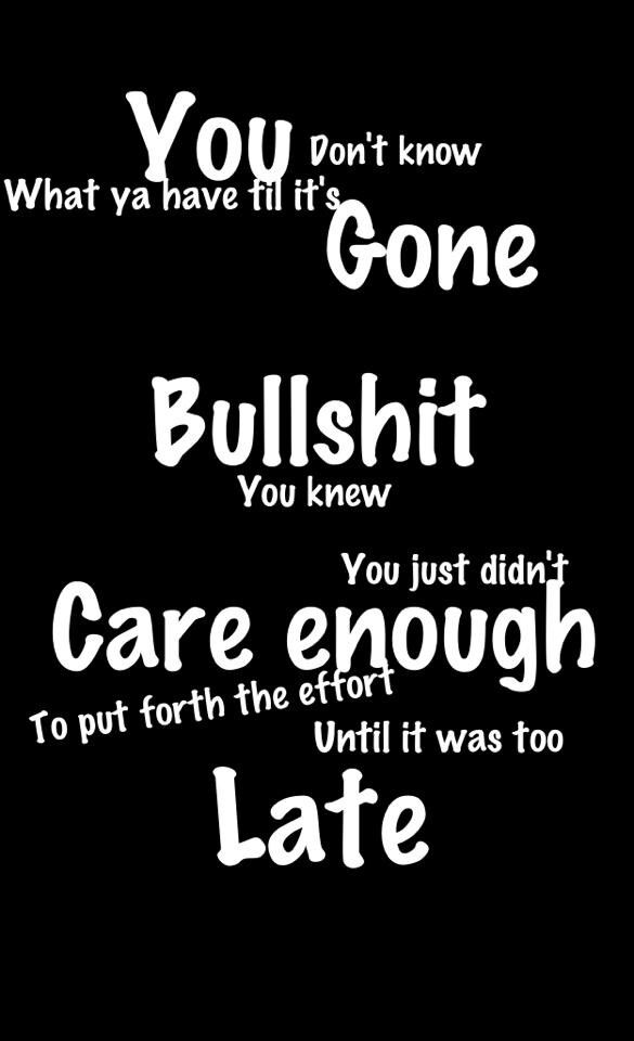 Too little too late..... that about sums it up!