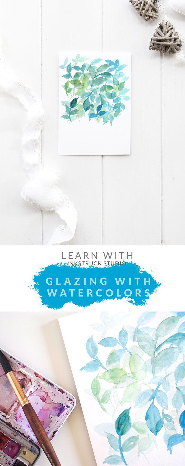 Transparencias con acuarelas Watercolor glazing technique