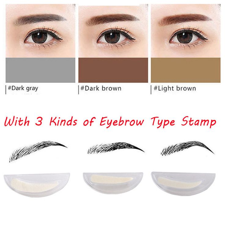 Professional KAXIER Eyebrow Stamp Powder Set Makeup Brush Waterproof Long Lasting Cosmetic - NewChic