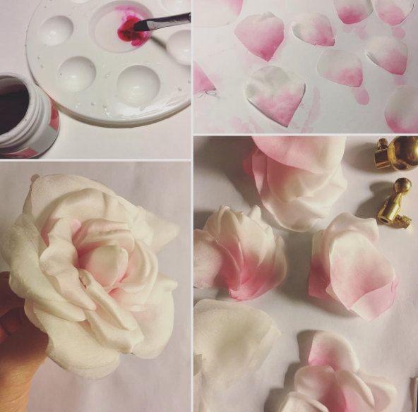Blush Rose, silk rose, hair flowers