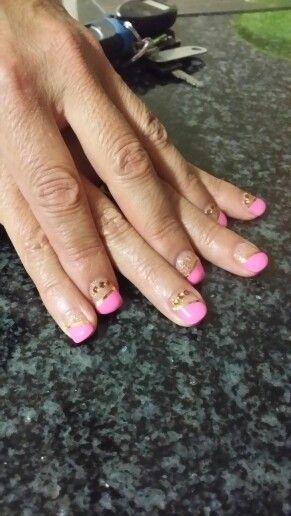 Pretzil #pink&gold
