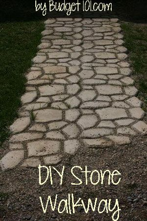 How to build a Faux Stone Walkway under