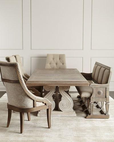 Ciarrocchi Dining Table | www.bocadolobo.com #bocadolobo #luxuryfurniture #exclusivedesign #interiodesign #designideas  #diningtable #luxuryfurniture #diningroom #interiordesign #table #moderndiningtable #diningtableideas