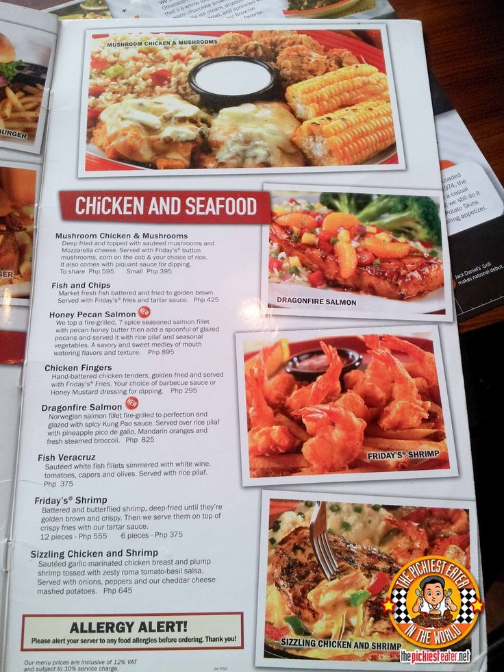 tgi fridays menu - Google Search