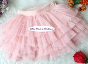 Fluffy Lace Cake Skirt  Layers of beautiful, soft princess chiffon lace make this pretty skirt a favourite for your Little Darling!  Pair these skirts with leggings and you can carry them through the fall, matched with fun fall long-sleeved tops and cardigans.  Sizes: 3 – 7 years  http://littledarlingboutique.com/product/fluffy-lace-cake-skirts/