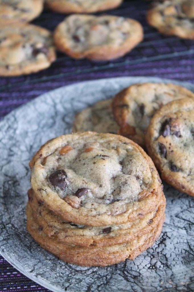 Smoked Sea Salt Caramel Dark Chocolate Chip Cookies